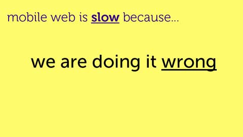 Velocity 2011 - Why mobile websites are slow